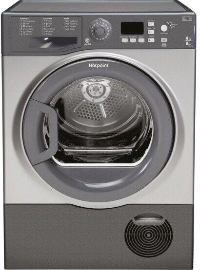 Brand New HOTPOINT Aquarius FTCF87BGG Condenser Tumble Dryer 8 kg Graphite.