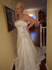 Elegant Strapless White Satin Wedding Dress - Brand New