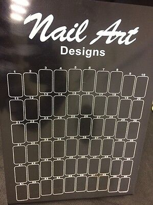 PROFESSIONAL UV GEL ACRYLIC FALSE  NAIL ART TIP DISPLAY BOARD STAND X60