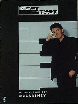 - PAUL McCARTNEY SHEET MUSIC, 1982 - EBONY & IVORY