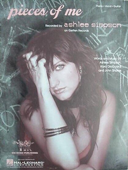 ASHLEE SIMPSON SHEET MUSIC, 2004 - PIECES OF ME