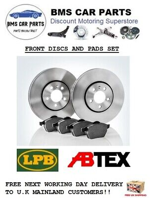 FRONT BRAKE DISCS AND PADS FITS VAUXHALL CORSA C 2000 - 2006 VENTED