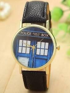 DOCTOR WHO - Tardis Watch Police Box - BLACK - BRAND NEW. Gateshead Lake Macquarie Area Preview