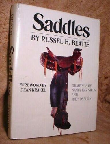 LARGE Hardback Western ~SADDLE~ History Book Encylopedia by BEATIE