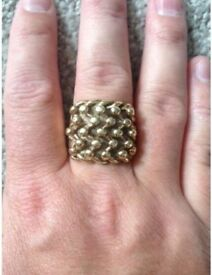 REDUCED Size V 19g 9ct Gold 5 Row Keeper Ring.