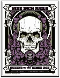 QUEENS-OF-THE-STONE-AGE-NINE-INCH-NAILS-Perth-2014-Screenprint-Hydro74