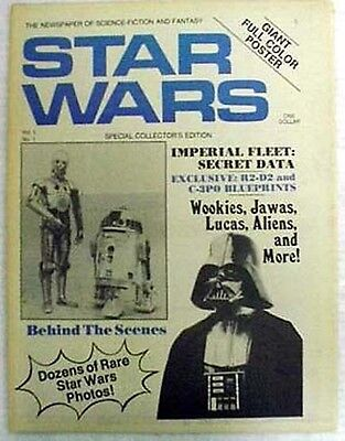 Original 1977  SCI-FI Newspaper Fanzine # 1 STAR WARS- 1st One! FREE S&H