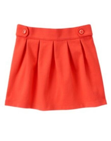 GYMBOREE MOD ABOUT ORANGE RED BUTTON PONTE SKIRT 5 6 8 NWT