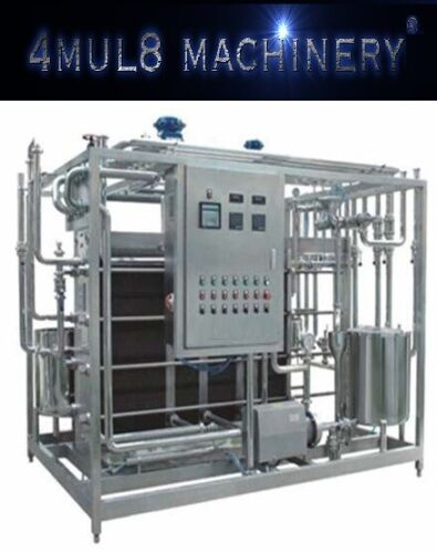 4mul8 Machinery® - Semi-Auto Plate Flash Pasteurizer - 500L / Hour - Installed