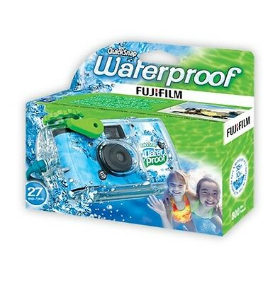 Fuji QuickSnap Waterproof Disposable Camera 27 exp. (ISO 800) FRESH DATED