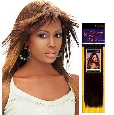 100% HUMAN HAIR TANGLE FREE; OUTRE PREMIUM NEW YAKI WEAVE; STRAIGHT;WEFT;WOMEN 100% Human Hair Weave
