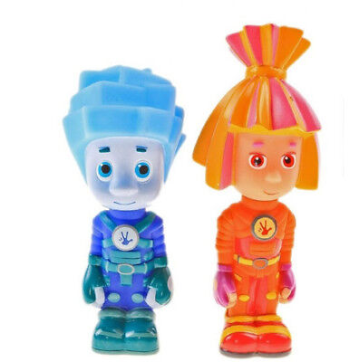 THE FIXIES Fiksiki Bath Toys Baby Rubber Toy Russian Cartoon Robot Bath Toys