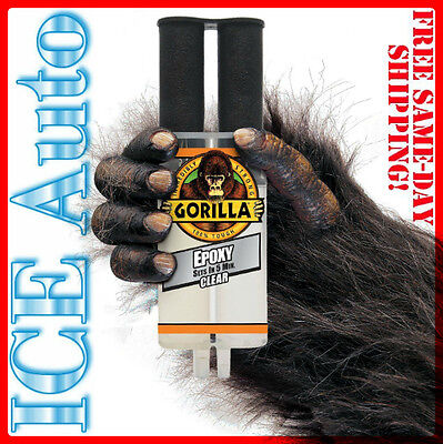Gorilla Glue 4200102 Gorilla Epoxy Syringe .85 Fl Oz -25 Ml Tough Clear Adhesive