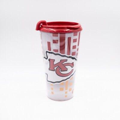 Kansas CIty Chiefs Travel Tumbler Coffee Mug Cup 16oz FREE Ship NFL Licensed