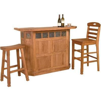 Rustic Home Pub Serving Bar Wine Rack Handmade Brown Oak Wood Cabinet Storage  for sale  USA
