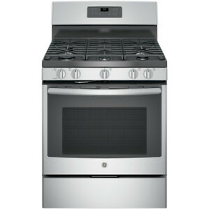 BRAND NEW STOVE GE SELF CLEAN GAS STAINLESS STEEL