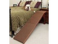 Solvit High Wood Bedside Ramp for Dogs