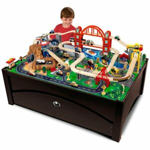 KidKraft Metropolis Train Table with Trundle Drawer