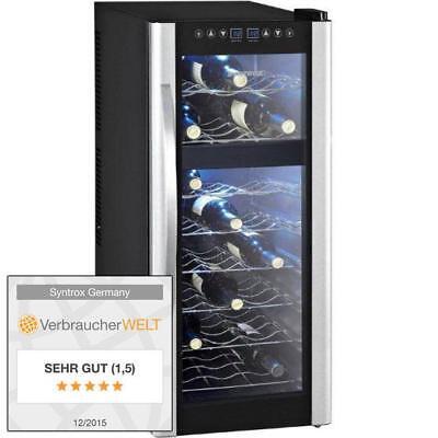 Weinkühlschrank Getränkekühlschrank 21 Flaschen 2 Zonen 70 Liter - Syntrox
