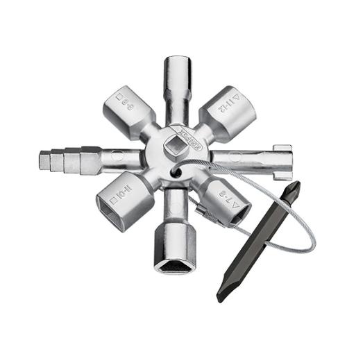 Knipex Universalschlüssel TwinKey Absperrsysteme Schaltschrankschlüssel 001101