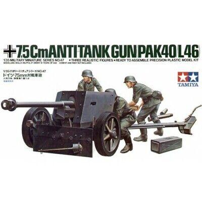 Tamiya 35047 German 75mm Anti Tank Gun 1:35 Military Model Kit