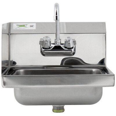 17 X 15 Hand Wash Sink Faucet Kit Commercial Stainless Steel Left Side Splash