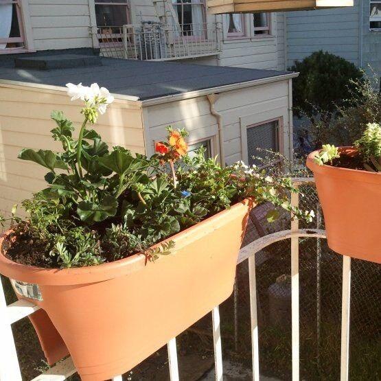 Planter for balconies/railings ( made by Elho) Brand new.