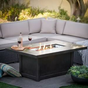 "Napoleon ""Hampton"" Rectangle Firepit / Outdoor Coffee Table"