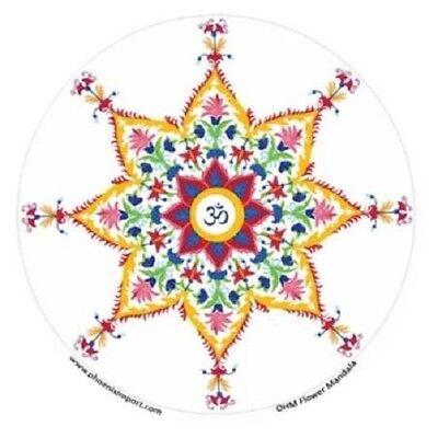 FENG SHUI Fensterbild Ohm Flower Mandala Energie