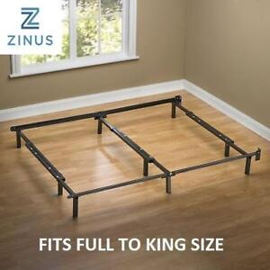 NEW ADJUSTABLE STEEL BED FRAME AZ-SBF-07U 213644470 ZINUS COMPACK ADJUSTABLE STEEL BED FRAME, FITS FULL TO KING