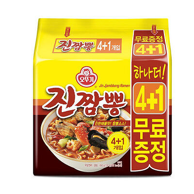 Korea Ottogi Jin Jjambbong Ramen 4+1 set