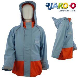 Kids Boys Girls Rain Coat Waterproof Baby Blue Jacket Suit Children 1-13 yrs NEW