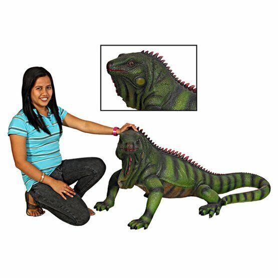 Iguana Statue - Iguana Sculpture - Large Iguana Life Size Statue  - 2 FT Long