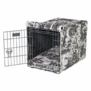 Small wire dog crate with fabric cover/cushion