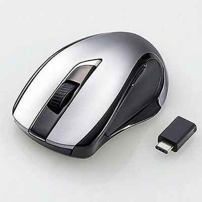 Japan   ELECOM USB-Type-C Wireless BlueLED Mouse M Size M-BL26DBCBK F/S