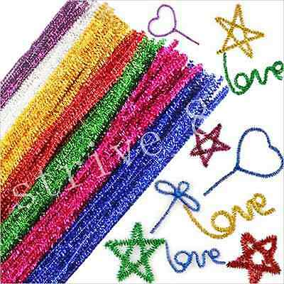 18/100pcs Chenille Craft Stems Pipe Cleaners Kids Educational Toys Twist - Pcs Chenille