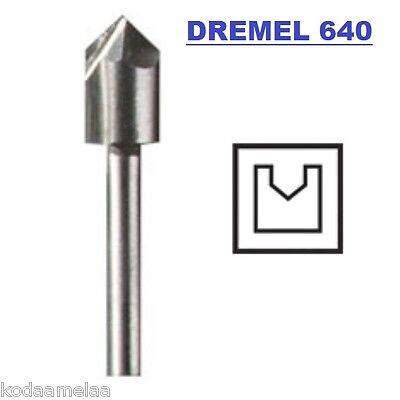 NEW AUTHENTIC DREMEL 640 V-GROOVE ROUTER BIT HIGH GRADE STEEL, HIGH SPEED CUTTER
