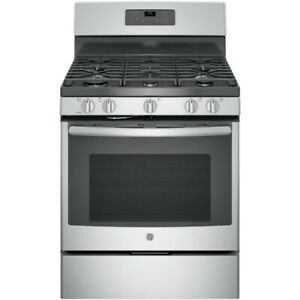 BRAND NEW GAS STOVE GE SELF CLEAN STAINLESS STEEL