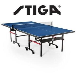 NEW* STIGA TABLE TENNIS TABLE T8580W 221460335 ADVANTAGE PING PONG TABLE 108'' x 60'' x 30""