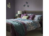 Sainsburys double bedding duvet quilt Teal Purple lilac floral