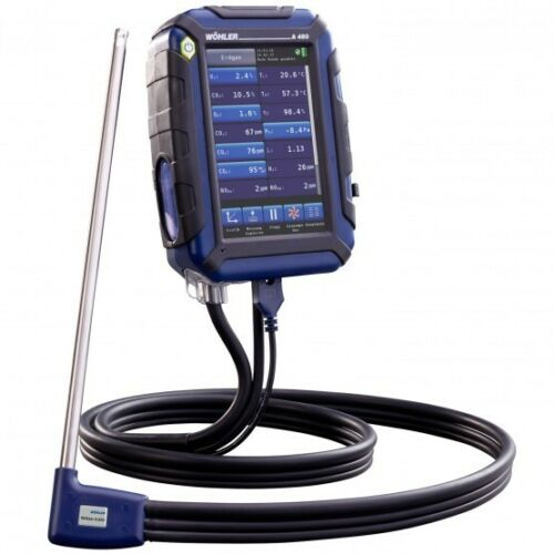 Wohler A 450 Combustion Analalyzer Gas Measuring Kit with Wohler TD 100 Printer