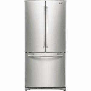 Réfrigérateur de 17,5 pi³ à portes françaises acier inoxidable Samsung ( RF18HFENBSR )
