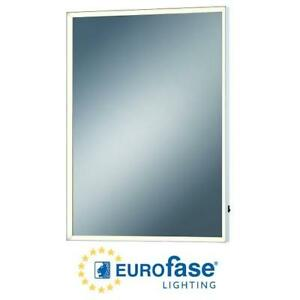 "NEW EUROFASE LIGHTING MIRROR 28x20"" 31478-014 187521841 RECTANGULAR FRAMED MIRROR WITH DIMMABLE LE"