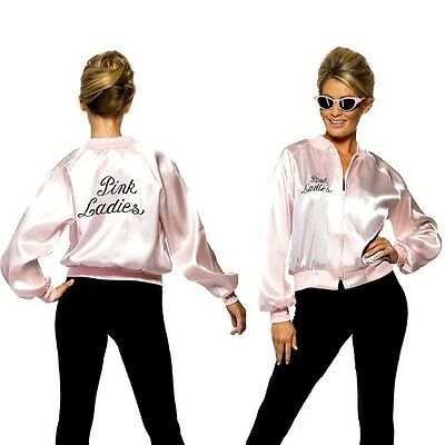 Ladies Licensed Grease Pink Lady Fancy Dress Pink - Grease Pink Lady Kostüme