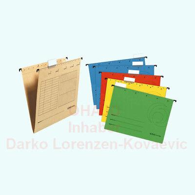 Hängemappen seitlich offen rot blau grün gelb grau oder braun (chamois) ()