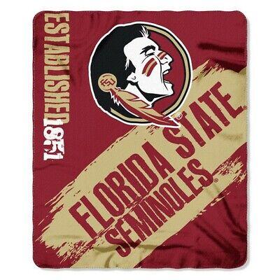 Florida State Seminoles NCAA Northwest Co 50x60 Painted Fleece Throw Blanket Fleece Florida State Seminoles Blanket