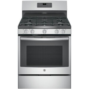 BRAND NEW STOVE GE GAS SELF CLEAN STAINLESS STEEL