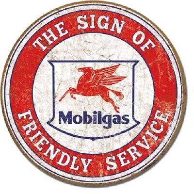 "Mobilgas Motor Oil 12"" Vintage Style Metal Signs Gas Pump Garage Man Cave"