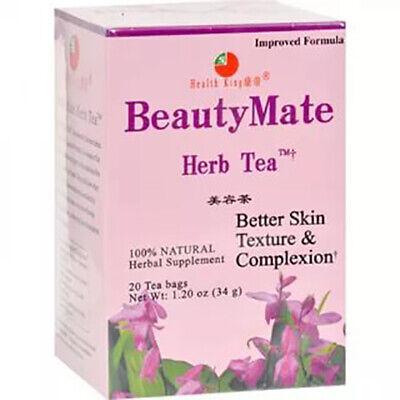 Health King BEAUTY MATE Better Skin Texture & Complexion Herb Tea 20 Bags Beautymate Herb Tea