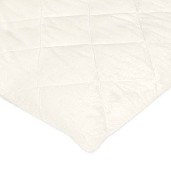 carter s quilted playard sheet solid ivory